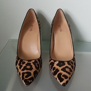 Michael Kors Leopard Print Calf Hair Pumps